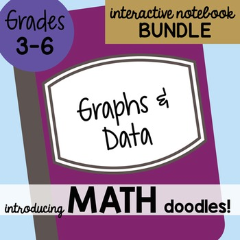 Math Doodles Interactive Notebook Bundle 18 - Graphs and Data
