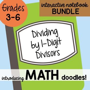 Math Doodles Interactive Notebook Bundle 4 - Dividing By 1