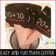 Math- Double Digit Addition Center Sticks