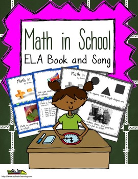 Math Vocabulary  Book and Song With Comprehension Questions