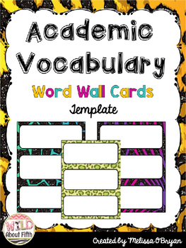Word Wall Cards Editable Templates - Animal Jungle Print