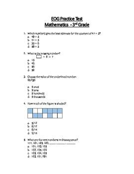 Math EOG Practice Test B - 3rd Grade