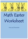 Math Easter Worksheet (Area and Perimeter)