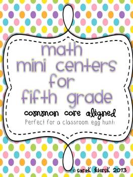 Math Egg Hunt {Common Core Aligned}