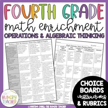 Math Enrichment Board for Operations and Algebraic Thinkin