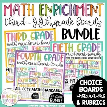 Math Enrichment Boards ***HUGE Bundle*** Third, Fourth, an