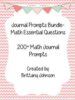 Math Essential Questions Journal Prompts Bundle!