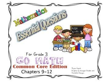 Essential Questions for Grade 3 Go Math Common Core Editio