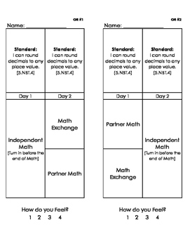 Math Exchange Worksheets (Place Value)