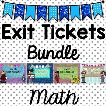 Math Exit Tickets Bundle