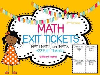Math Exit Tickets NBT. 1-3