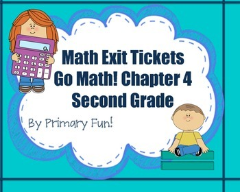 Math Exit Tickets-Second Grade -Go Math! Math Program:2-di