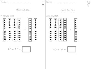 Math Expression Exit Slips - Unit 4