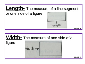 Math Expressions Grade 3 Unit 2 Vocabulary