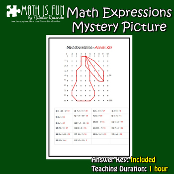 Math Expressions – Mystery Picture FREEBIE