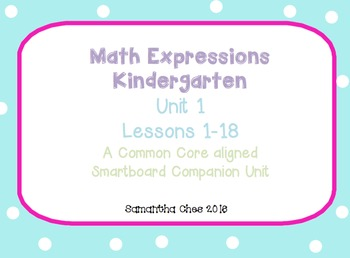 Math Expressions Smartboard Companion Unit 1