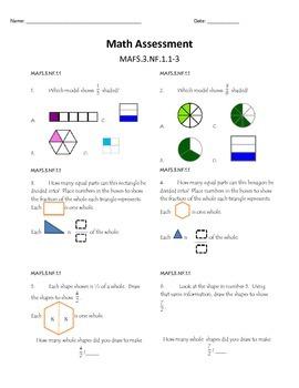 Math FSA (Florida Standards) Assessment - Fractions