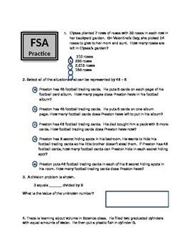 Math FSA review