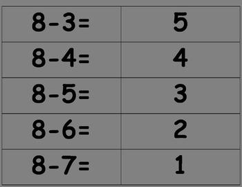 Math Fact Answer Match