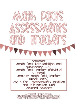 Math Fact Assessments and Trackers