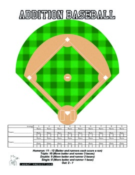 Multiplication Fact and Addition Fact Baseball