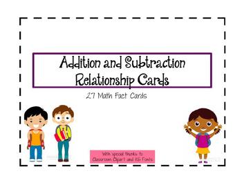 Math Fact Cards