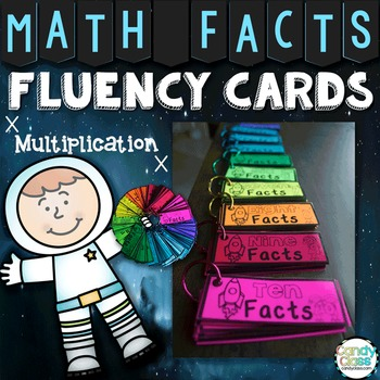 Math Fact Cards for Multiplication Facts