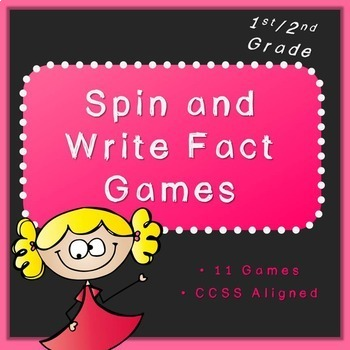 Math Fact Centers (first and second grade, Common Core aligned)
