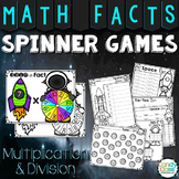 Math Fact Games - Multiplication & Division Spinning Fun