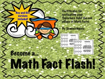 Math Fact Flash Certificates