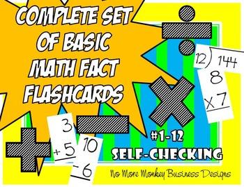 Math Fact Flashcards (Addition, Subtraction, Multiplicatio