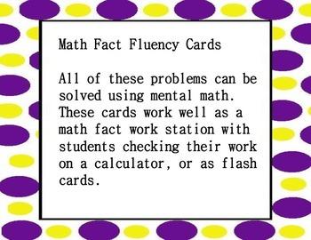 Math Fact Fluency