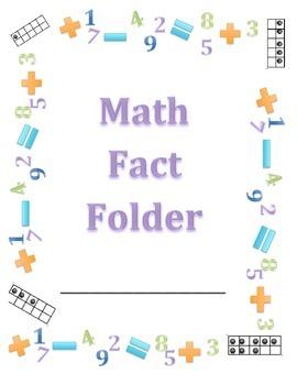 Math Fact Fluency Folders