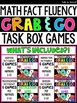 "Math Fact Fluency Task Card Boxes ""Grab and Go!"" Games Bundle"