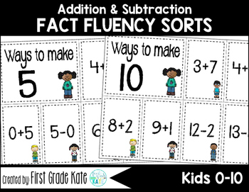 Math Fact Fluency Kids (0 to 10)