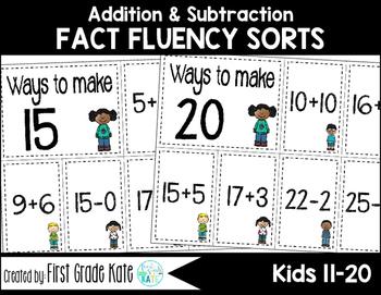 Math Fact Fluency - Kids (11-20)