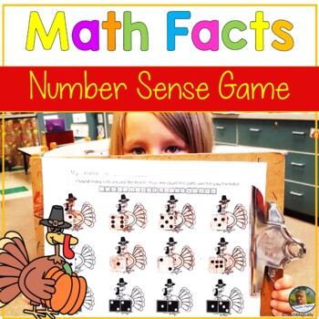 Math Fact Fluency & Number Sense! Turkey Theme