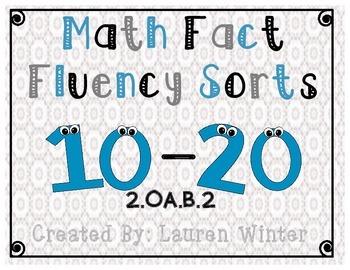 Math Fact Fluency Sorts: 2.OA.B.2.