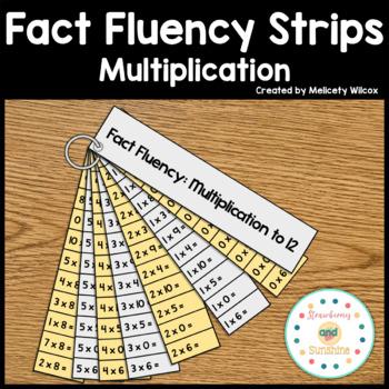 Math Fact Fluency Strips Flashcards: Multiplication