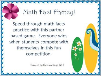 Math Fact Frenzy Combinations Practice