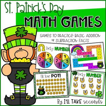 Math Fact Games for St. Patrick's Day