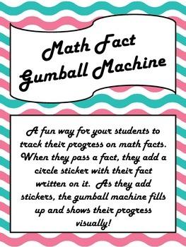 Math Fact Gumball Machine