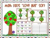 """Math Fact """"Love Bug"""" Sort"""