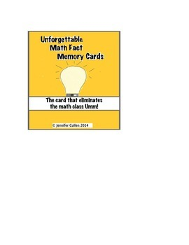 Math Fact Picture Flash Cards