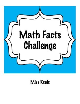 Math Facts Practice Challenge