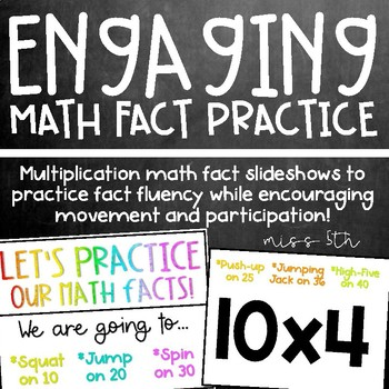 *Multiplication Math Fact Practice* Active, engaging slideshows!