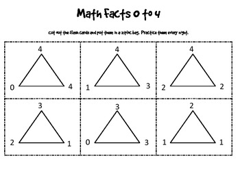 Math Facts 0 - 20 Flash Cards