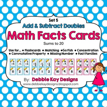 Math Facts Cards - Add & Subtract Doubles