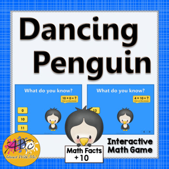 Math Facts Fluency +10 Interactive Addition Game {Dancing
