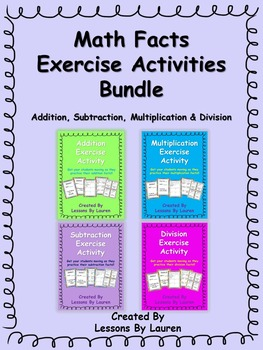 Math Facts Fluency Exercise Activity BUNDLE